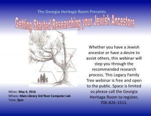 Jewish Ancestry flyer