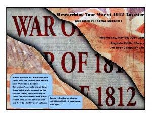 War of 1812 draft